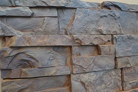 New 2 Plastic Mold For Concrete Wall Stone Tiles Maker Garden Decoration Plaster