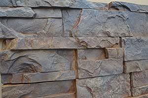 9 Moldes De Plástico Para Concreto Yeso Pared Piedra Cemento Azulejos Molde Abs W02 Jardín Y Exteriores