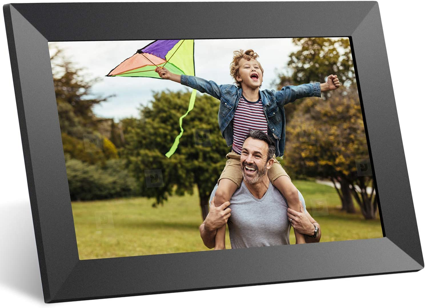 Anyuse Digital Picture Frame 10 inch WiFi 16GB Photo Frame with IPS HD Touch Screen, Share Photos or Videos via APP, Auto-Rotate, Wall Mountable, Portrait and Landscape, Holds Over 40,000 Pics