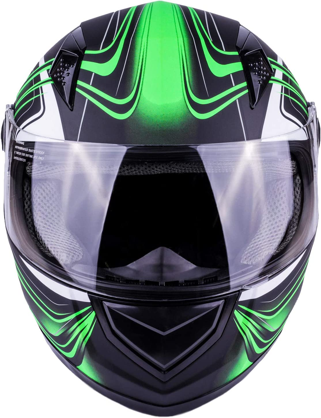 SAME DAY SHIPPING Matte Black, XXXXL Typhoon Adult Full Face Motorcycle Helmet DOT