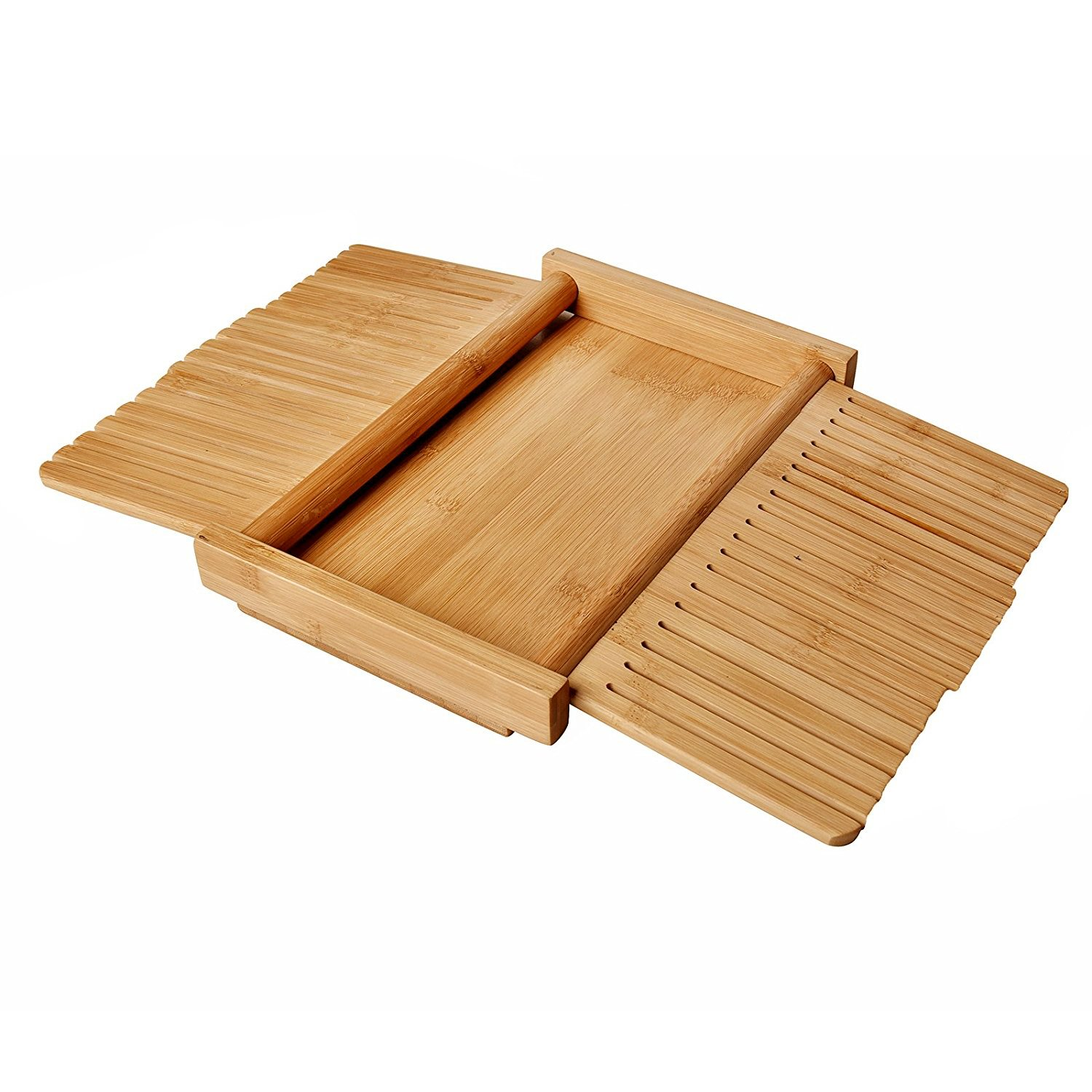 WELLAND Bamboo Bread Slicer Guide, Foldable Wooden Toast Cutting Guide with 3 Slicing Sizes for Homemade Breads, Loaf Cakes by WELLAND (Image #4)