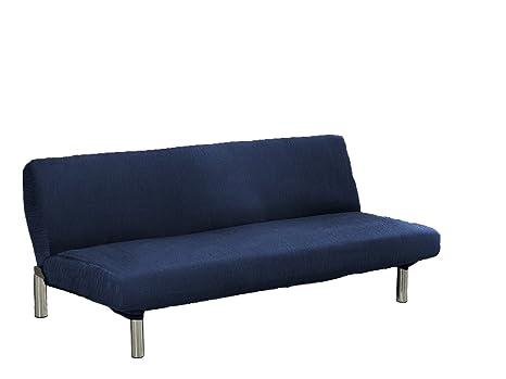 textil-home Funda de Sofá Elástica Clic-clac TEIDE, 3 plazas - Desde 180 a 240 cm. Color Azul