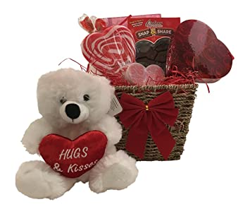 Amazon Com Valentine Gift Baskets For Kids With Teddy Kids Will