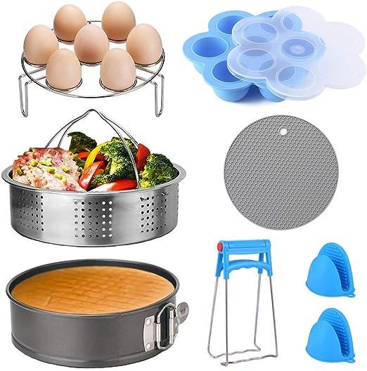 Kitchen Accessories full kit Steamer Basket Spring form Pan 8pcs fit 5//6//8QT