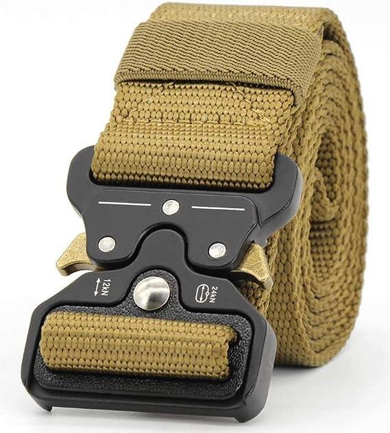 Geschenk mit 1 Tactical Key Hook Taktischer G/ürtel Herren Schnellverschluss Military Style Nylon Arbeitsg/ürtel mit Metallschnalle 1 Wasserflaschenschnalle und 1 Karabiner