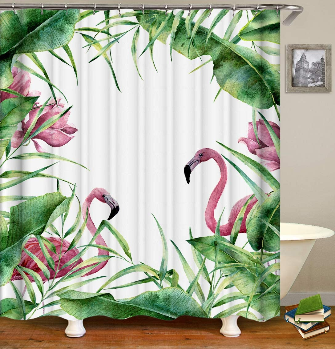 OCCIGANT Home Decor Waterproof Polyester Shower Curtain,Creative Colorful Tree with 3D Printing,Fabric Bathroom Set with Hooks,Multi