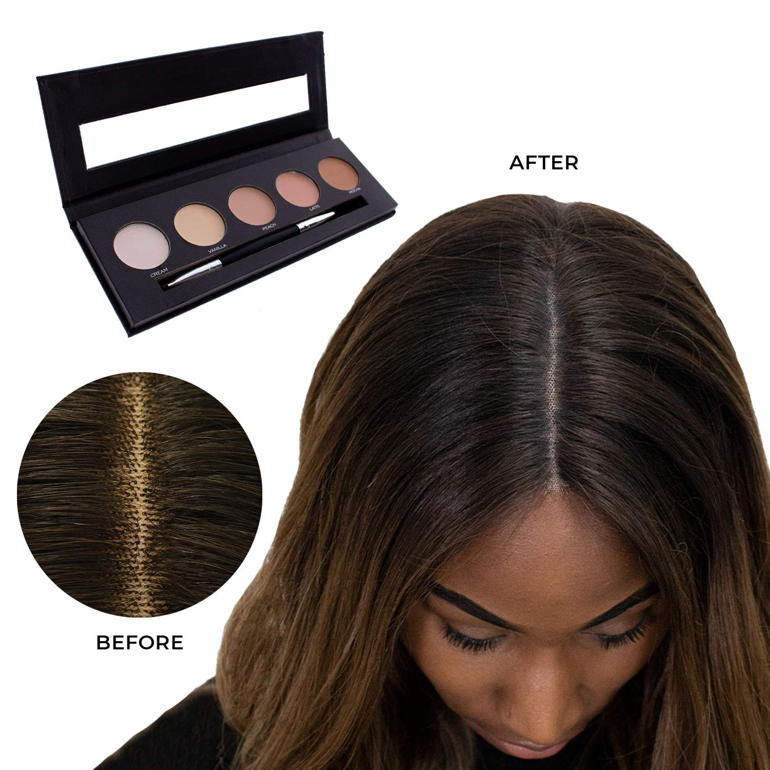 Milano Collection Wig Cream Knot Concealer Palette for Lace Wigs and Frontal Part and Hairline by MILANO COLLECTION