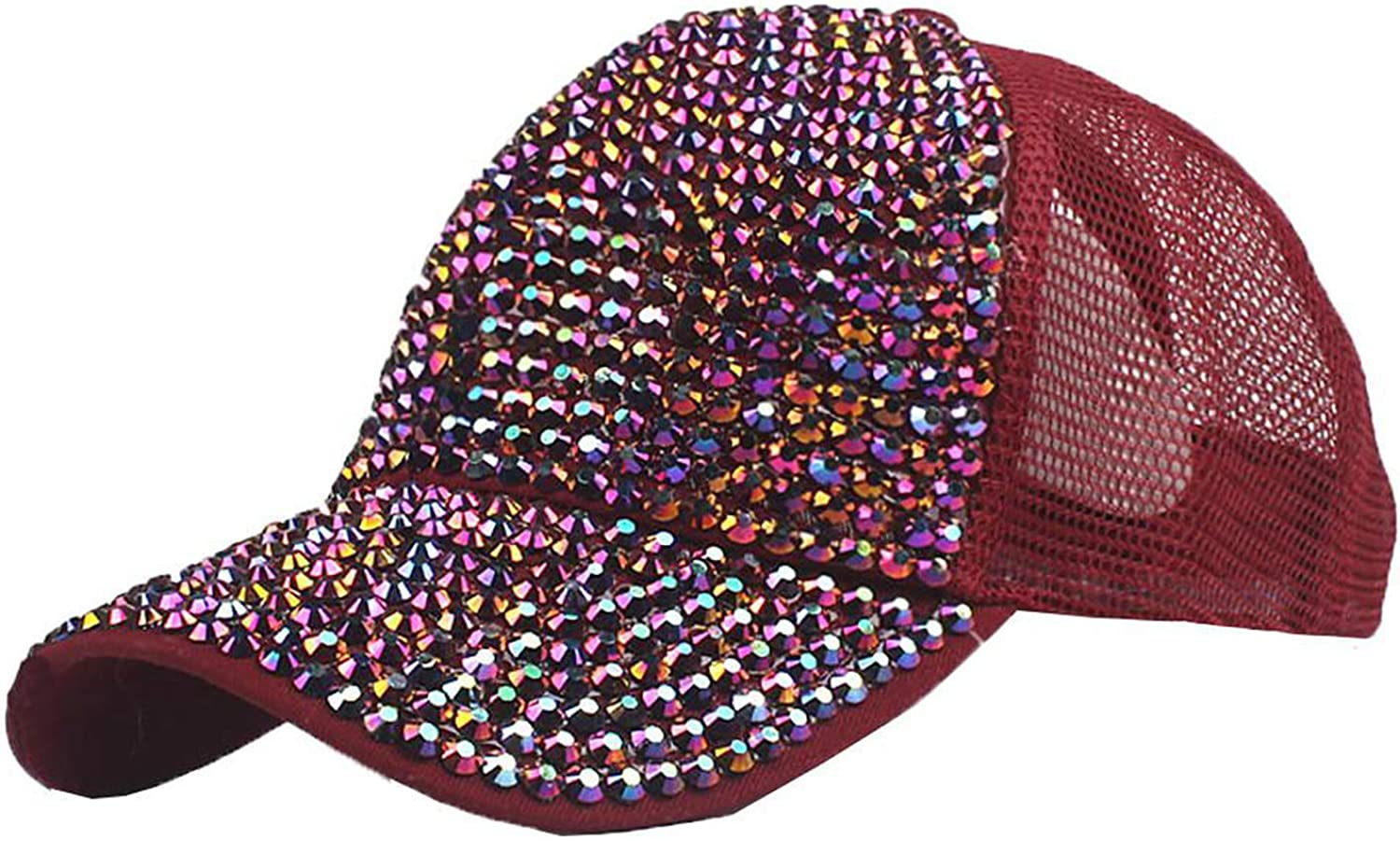 HiiWorld Glitter Baseball Cap Women Baseball Cap Girls Snapback Caps Summer 2019 Fashion Mesh Hats