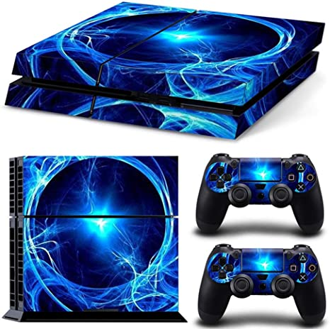 Sololife Bear PS4 - Skin de Vinilo para Consola de Sistema Playstation 4 y Controladores Blue Power Field: Amazon.es: Electrónica