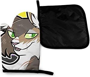 Cat Nonbinary Genderqueer Non Binary Pride Flag Microwave Oven Mitts And Pot Holders Cover Set Heat Insulation Blanket Mat Pad Mittens Glove Baking Pizza Barbecue Bbq Accessories Home Kitchen Decor
