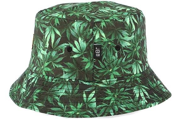 prix réduit quantité limitée le plus fiable JBB COUTURE - Bob Chapeau feuilles vertes réversible noir ...