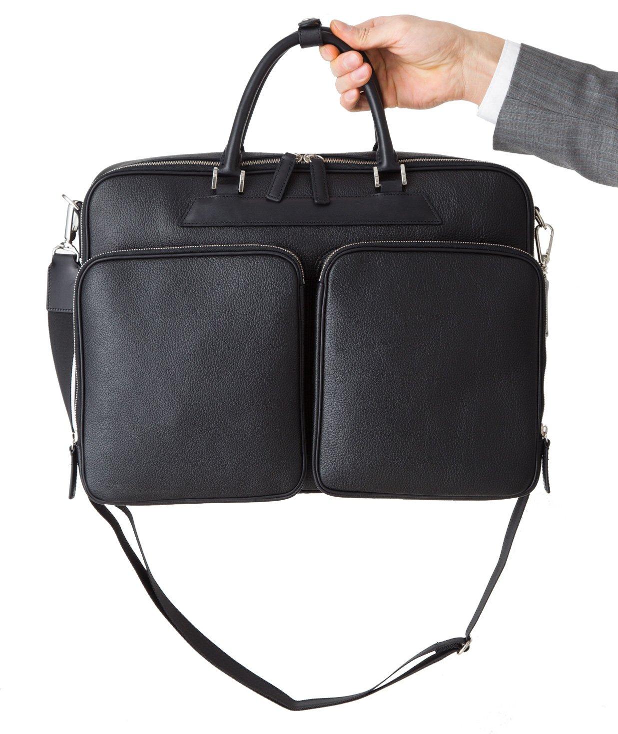 チマブエ ブリーフケース メンズ ビジネスバッグ CIMABUE 11050 B06XYNHXBQ ブラック ブラック