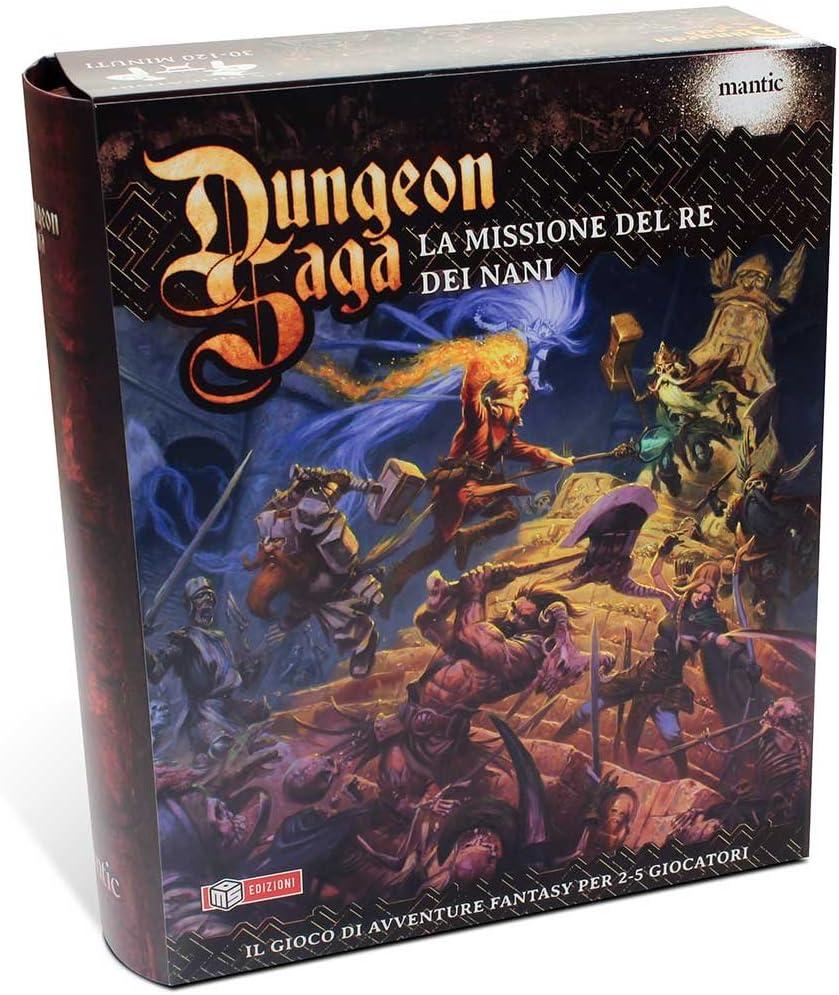 Dungeon Saga – Juego de Mesa «La Missione del Re dei Nani», Caja Base (versión Italiana), 64592: Amazon.es: Juguetes y juegos