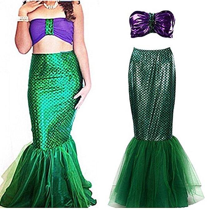 7318c3e4cd5fa Amazon.com: Women's Mermaid Costume Lingerie Halloween Cosplay Fancy ...