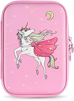 Cute Pencil Case for Girls   Big Capacity Pencil Box  Pink pencil holder with zipper for school compartment pen pouch