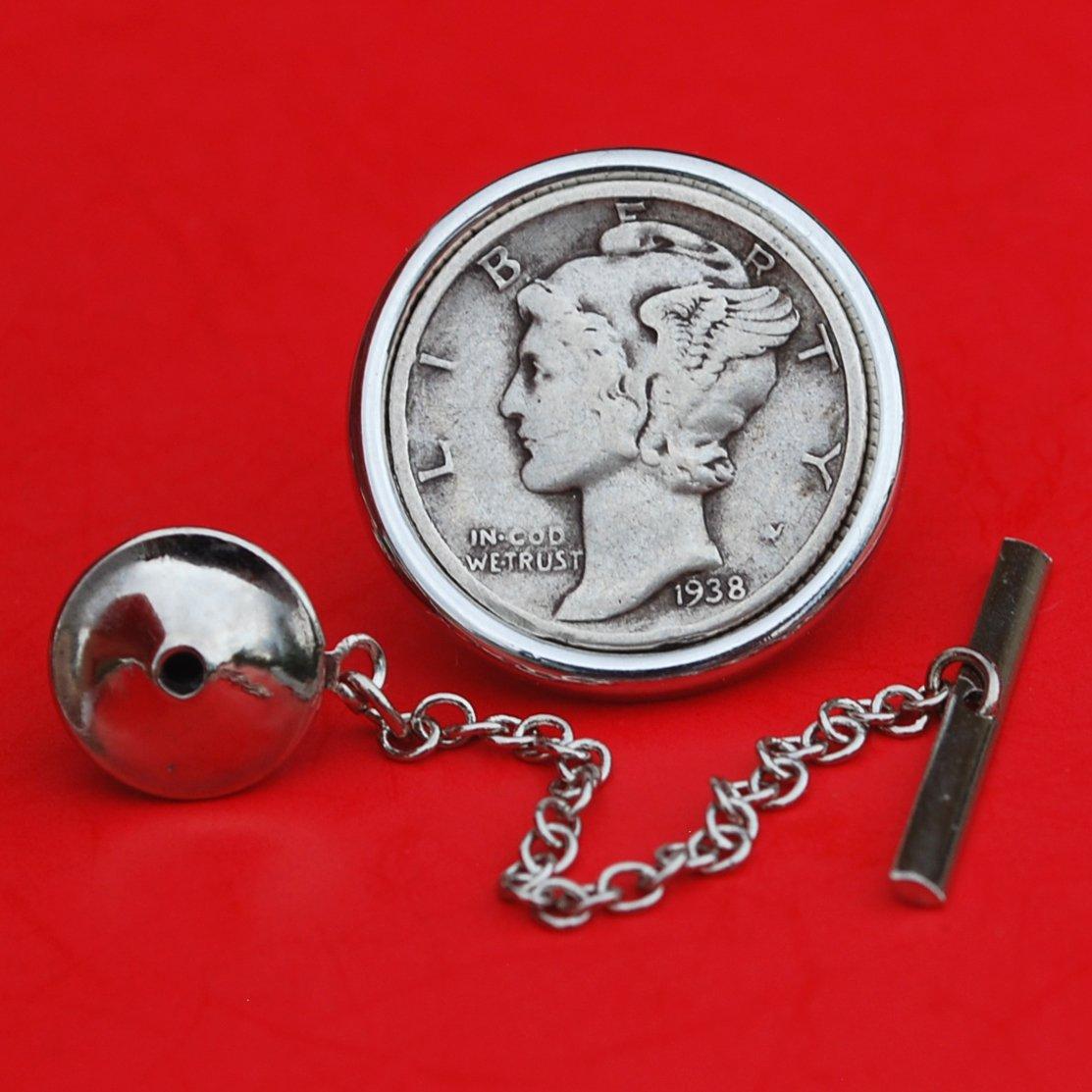 1938 Mercury Dime Circulated 90/% Silver US Coin