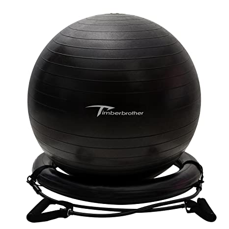 Timberbrother Anti-Burst Exercise Ball/Stability Ball/Ball Chair 65cm/75cm Diameter  sc 1 st  Amazon.com & Amazon.com: Timberbrother Anti-Burst Exercise Ball/Stability Ball ...