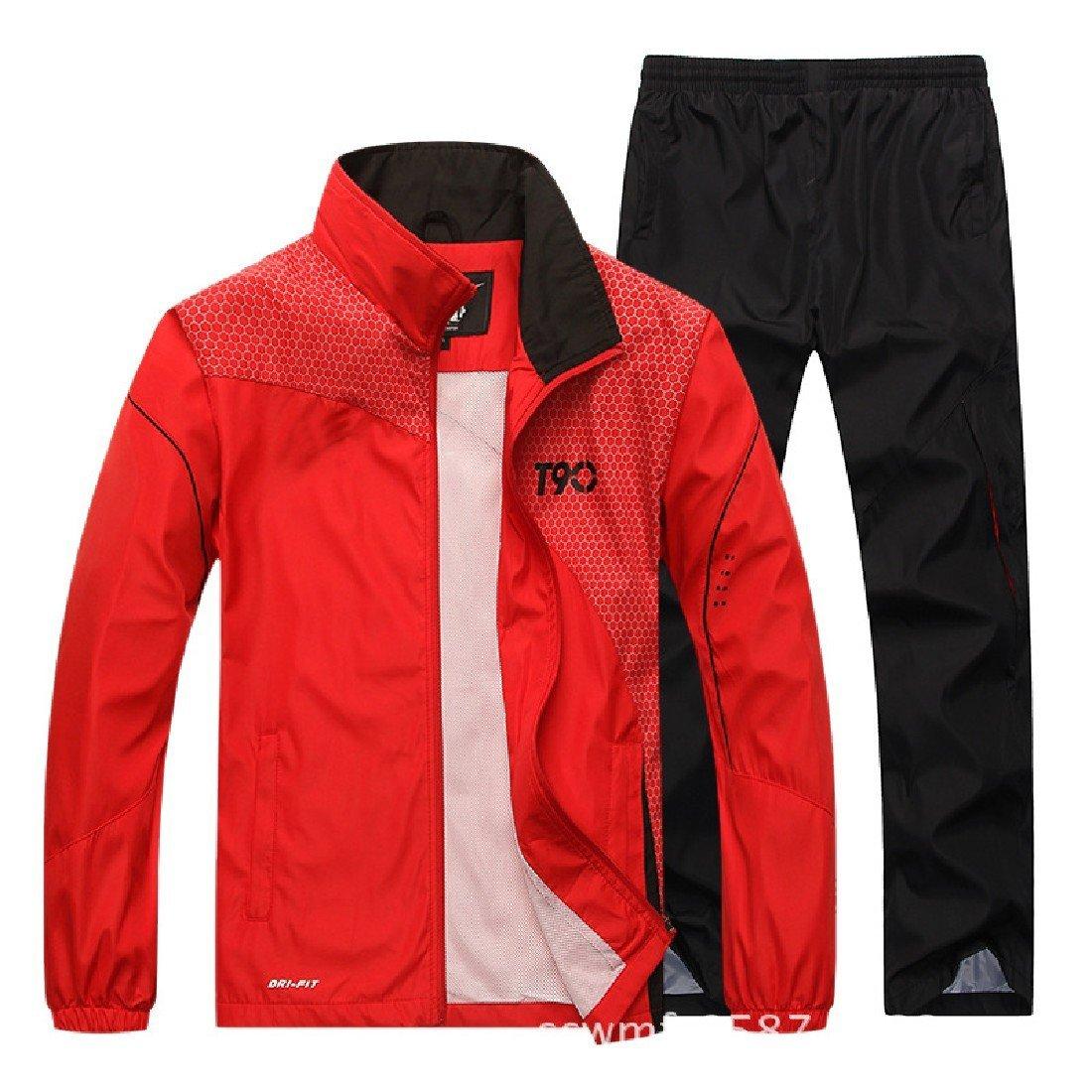 TaoNice Mens Sports Outdoor Summer Running Sweatsuit Pants Set