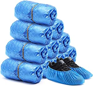 Shoe Covers Disposable -Disposable Shoe & Boot Covers Waterproof Slip Resistant Shoe Booties (50 PACK)