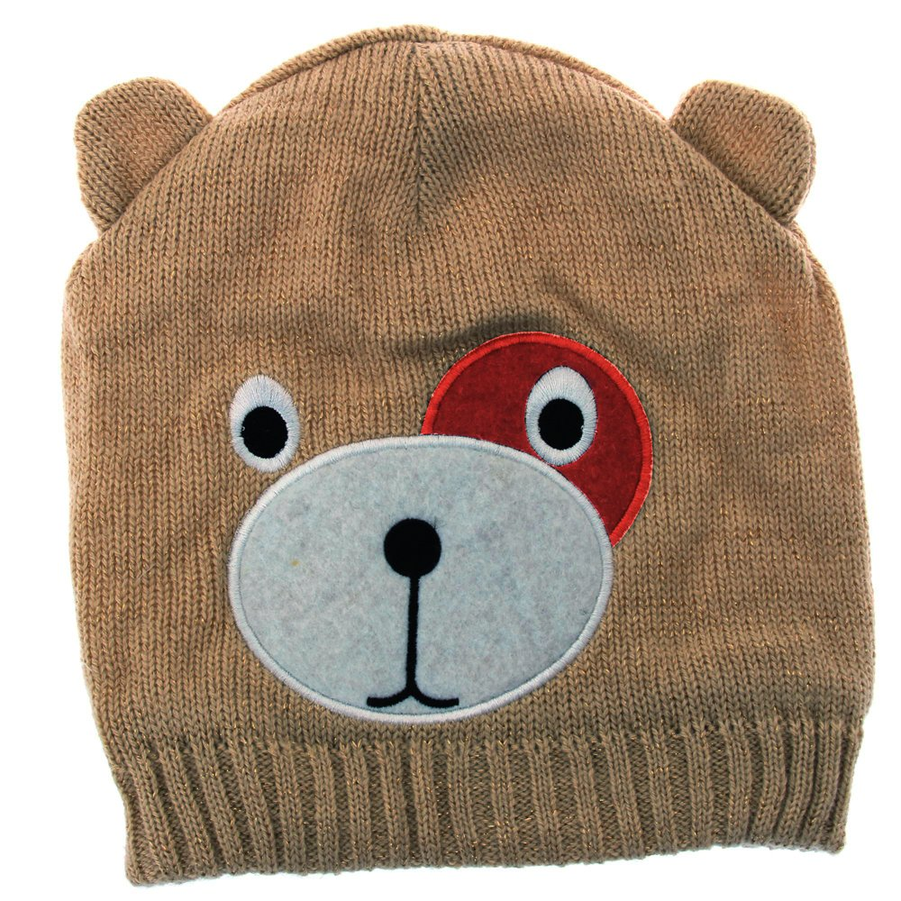 Universal Textiles Childrens/Kids Girls Teddy Bear Design Winter/Ski Hat With Inner Lining UTHA219_7