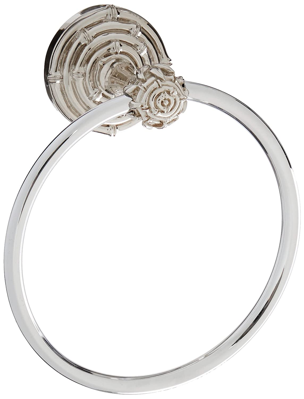 Bamboo Polished Nickel TR9007-PN Vicenza Designs TR9007 Palmaria Towel Ring