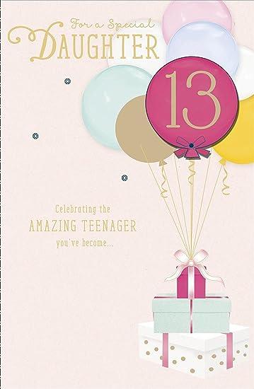 Amazon daughter 13 celebrating the amazing teenager age 13th daughter 13 celebrating the amazing teenager age 13th birthday greeting card m4hsunfo