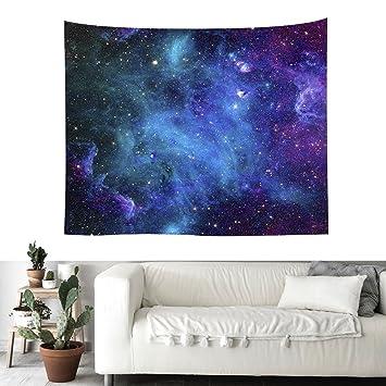 Kosmische Wandteppiche Blau Und Lila Kosmos Mit Sternen Drucken Wandteppich  Wand Kunst Wohnkultur Universum Sterne Tapisserie