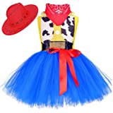 Tutu Dreams Cowgirl Costume for Girls 1-10Y with Bandana Cowboy Hat Birthday Holiday Party