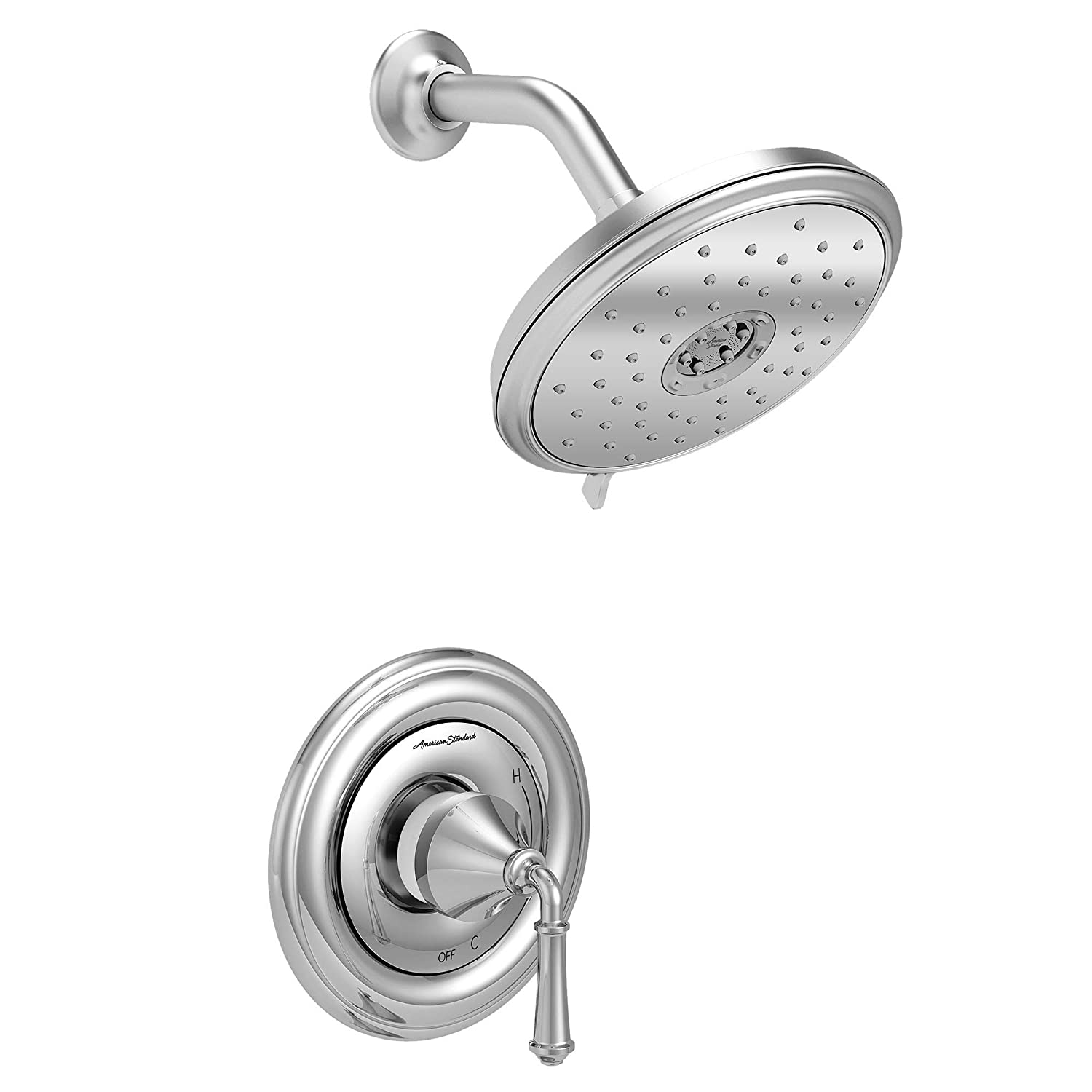 American Standard TU420501.002 Portsmouth Round Shower Only Trim Kit with Cartridge Polished Chrome