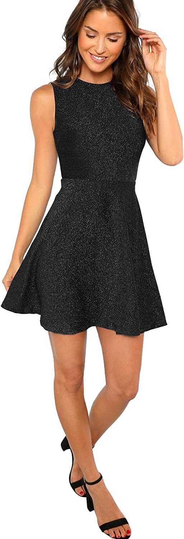 Elastic Die Röcke Plus Size Skater Rock Skaterrock S-L A-Line Rock Damen