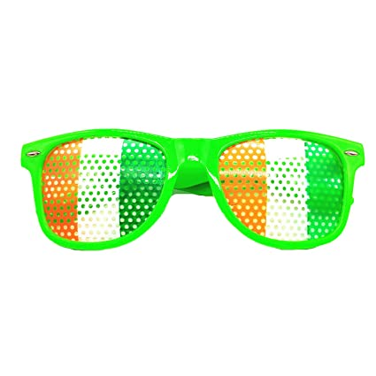 Funny Shamrock Design Sunglasses Creative Holiday Cosplay Costume Glasses Accessory Men's Eyewear Frames Apparel Accessories
