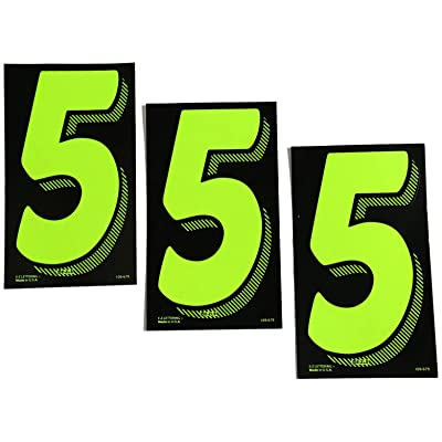 7 1/2 Green Chartreuse Pricing Numbers for Car Dealers 3 Dozen (# 5's): Automotive