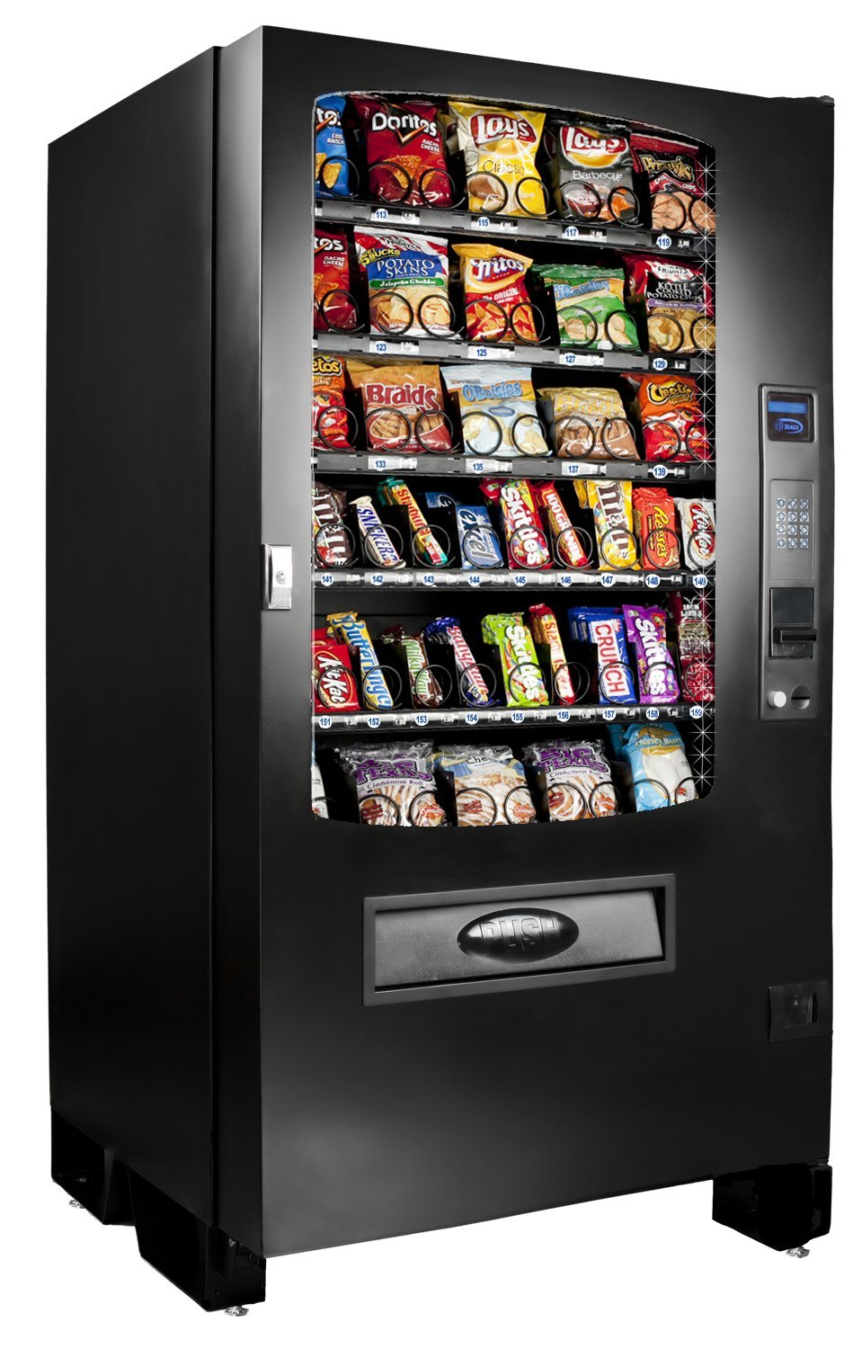 SEAGA Vending Machine For Snacks, Candy, Toys, CD's, DVD's and More, Plug and Play Software This Model Accepts Coin or Cash