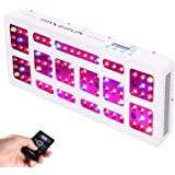 MAXSISUN Timer Control 450W LED Grow Light 12-band Dimmable Full Spectrum for Indoor Hydroponics Plants Veg and Flowering