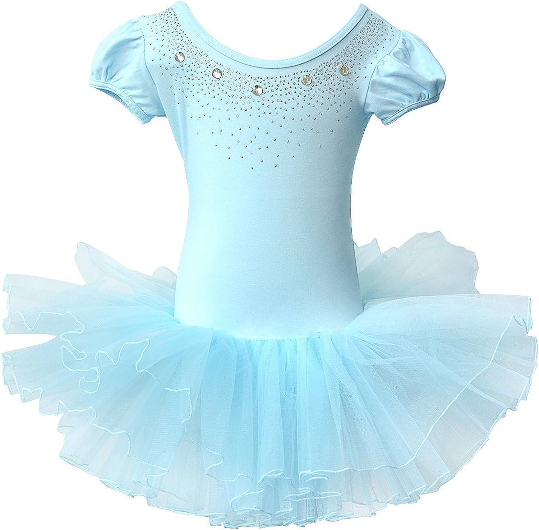 BAOHULU Ballet Leotards for Girls Full Skirted Dance Tutu Dress Party Costumes