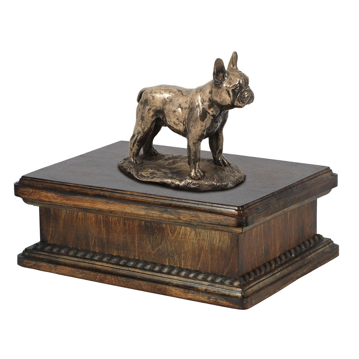 French Bulldog, memorial, urn for dog's ashes, with dog statue, exclusive, ArtDog