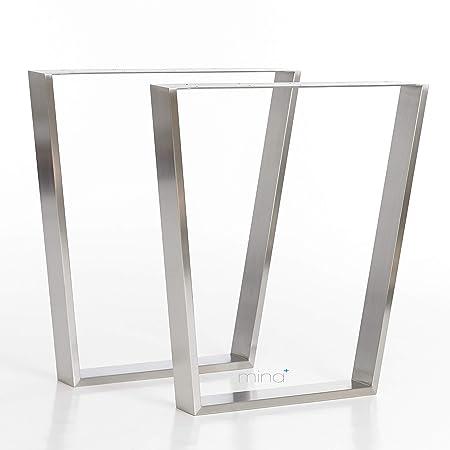 mina concept Trapez-R-Form Modern I - Estructura de Mesa (80 x 20 ...