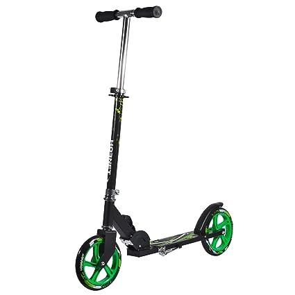 Amazon.com : Hudora Hornet Scooter with Neon Green Wheels ...