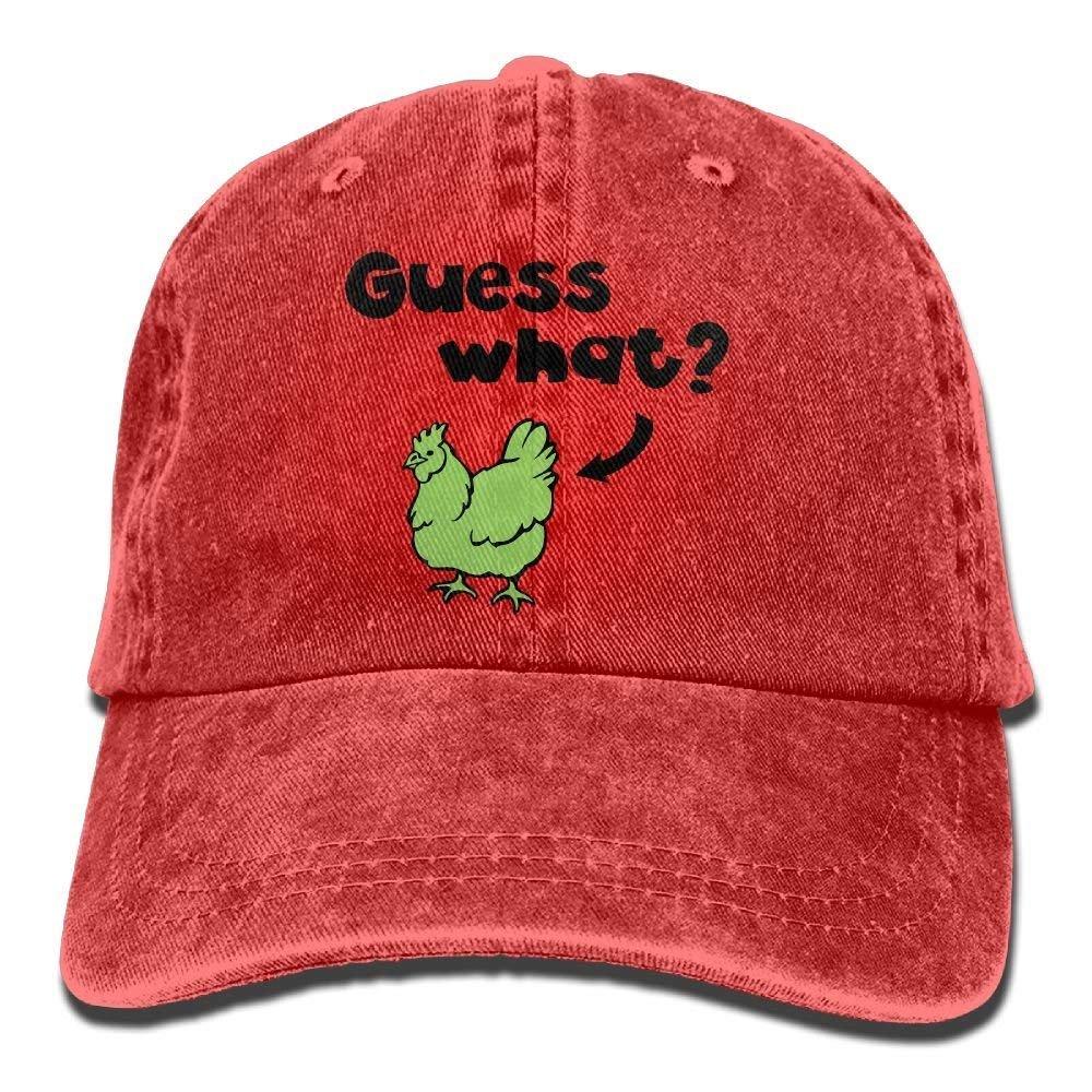 Hat Guess What Chicken Butt Denim Skull Cap Cowboy Cowgirl Sport ...