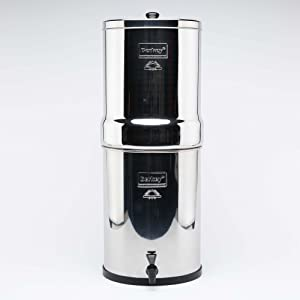 Berkey Imperial Water Filter System with 2 Black Berkey Filters, Made From High Quality Stainless Steel