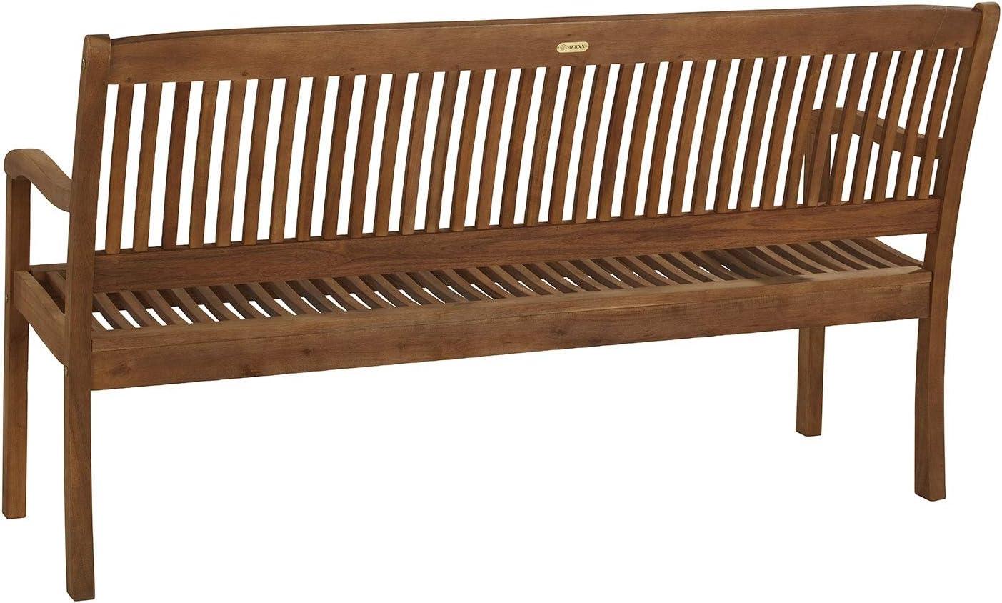 Akazienholz 3-Sitzer Gartenbank Sitzbank Holzbank SOUTA 2 Braun BxHxT: 157 x 91 x 63,5 cm