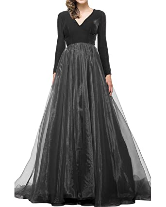 SZMX Prom Dresses Long Sleeves Velvet Formal Evening Party Gowns For Women 2018