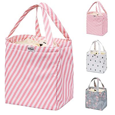 Reusable Lunch Bag, Insulated Bento Box Cooler, Tote Handbag Container Women- Lunch tote Women, Kids, Students- waterproof: Kitchen & Dining [5Bkhe1105275]