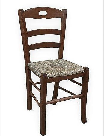 Stuhl Aus Massivholz Sitz In Stroh Restaurant Haus Bereits Montiert Holz  Nussbaum Dunkel Typ Set Mit