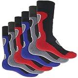 6paires de chaussettes thermiques pleine éponge au design sportif–Super doux et chaud–EN 3tendance Combinaisons de Couleurs