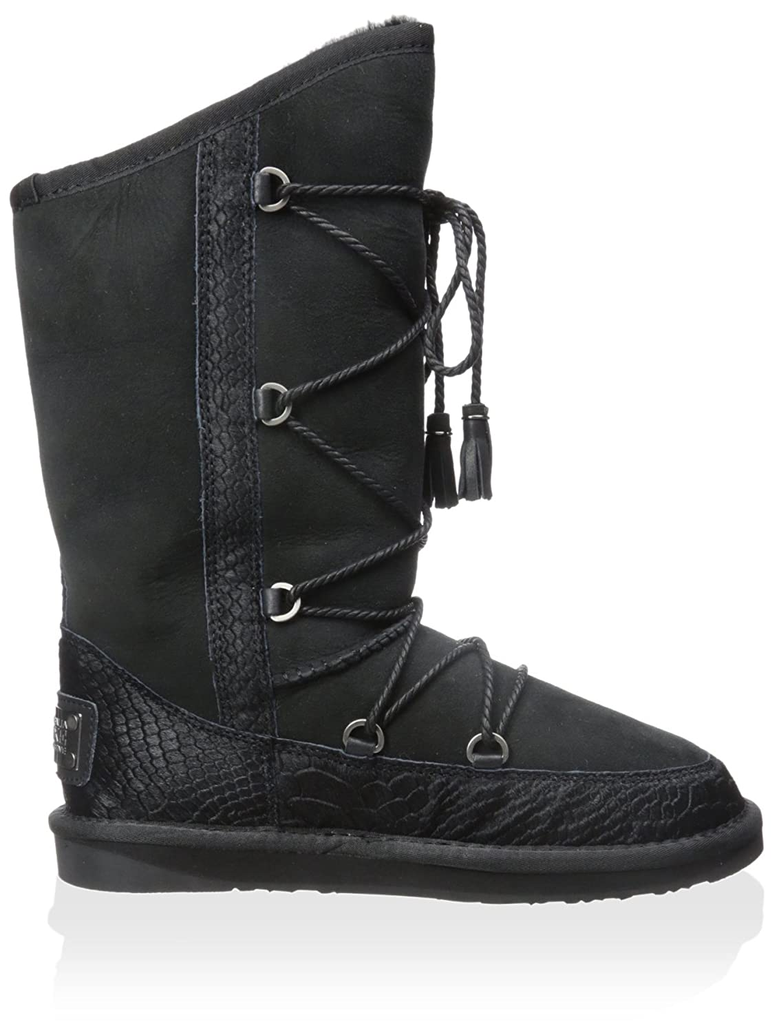Australia Luxe Collective Women's Norse Lace up Mid Shearling Boot B011QS4G54 39 M EU/8 M US|Black
