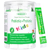 Kids Probiotic & Prebiotics Powder Age 3+ Support Children's Digestive & Immune System with Natural Source, PromotesConstipation Relief, Non-GMO, Gluten-Free, 30 Packets with 5 Billion CFUs