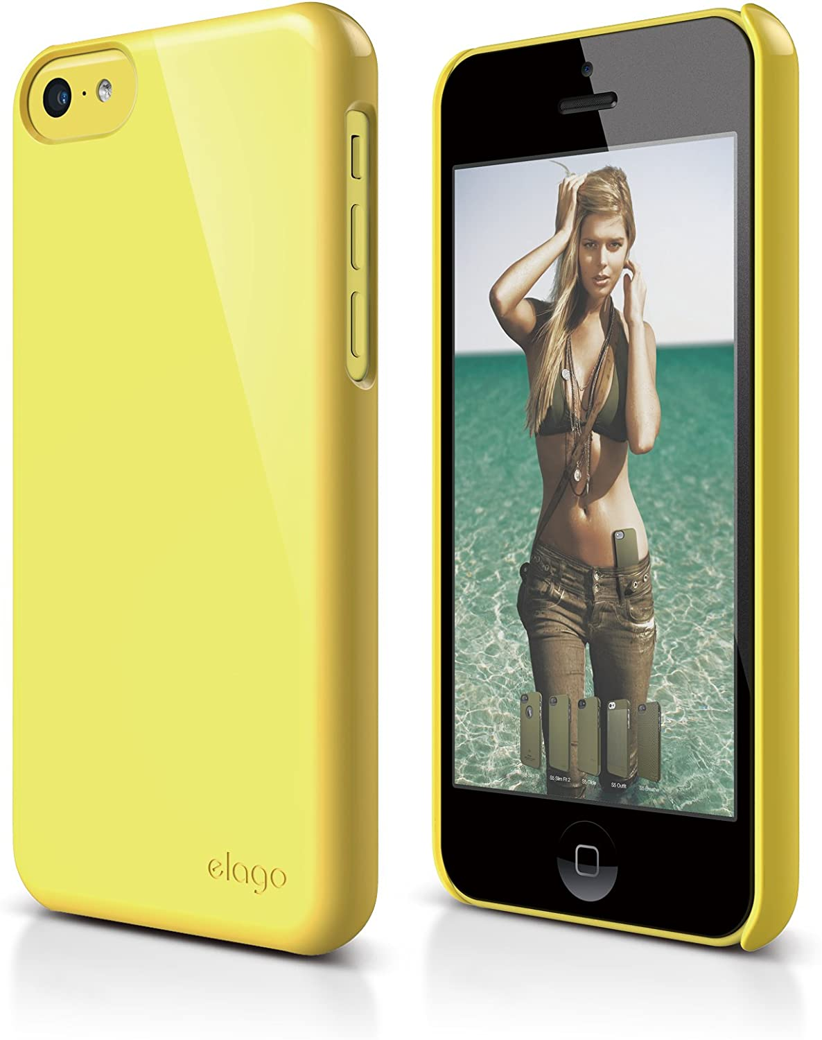 elago S5C Slim Fit 2 Case for iPhone 5C - eco Friendly Retail Packaging (Yellow)
