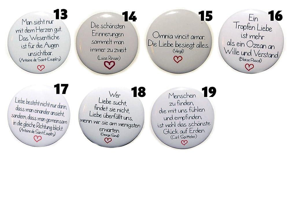 Magnet Set gro/ß 50mm rund Auswahl ab 5 St/ück Motive w/ählbar Motiv Muttertag Mama Mutter