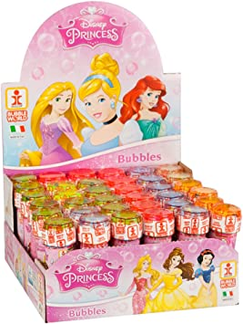 ColorBaby - Caja pomperos Princesas Disney con 36 Unidades de 60 ml (22902: Disney - 4480 - Jeu de Plein Air - Bulles de Savon x1 - 36 Modèles - 60 ml: Amazon.es: Juguetes y juegos